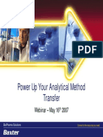Analytical Method Transfer