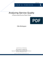 Analyzing Service Quality