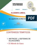 Semana2_Sistema de Ecuaciones Lineales-Metodo de Gauss