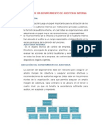 Organización de Un Departamento de Auditoria Interna