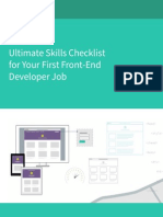 Ultimate Skills Checklist for Your First Front-End Developer Job