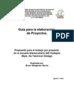 Propuesta Para El Trabajo Por Proyecto