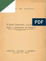 Frei Montalva El Socialcristianismo