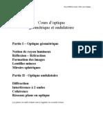 Pascal PUECH, Version 2 2004, Cours d'optique