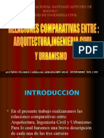 4 Relaciones Comparativas Entre Arq e Ing