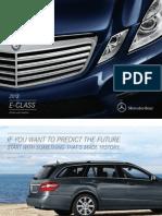 Mercedes E 400 2013 Misc Documents-Brochure