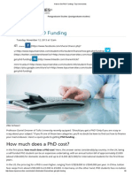 How to Get PhD Funding