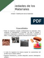 Generalidades de los Materiales
