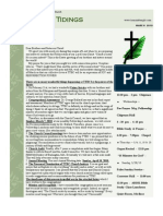 Temple Tidings Newsletter March 2010