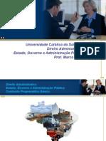 Direito Administrativo - UCSal - Estado, Governo e Administração Pública