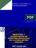 Prt-cnsp-001 (001) Recepcion y Conservacion de Muestras Biologicas Conformidad