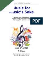 choral concert program