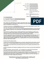 Mircom Golden Eye Transfer Letter
