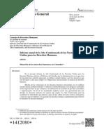 Informe 2013 Derechos Humanos en Colombia. ONU
