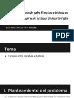 La tensión entre literatura e historia en Respiración artificial de Ricardo Piglia