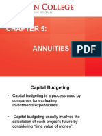 Chapter 5 - Annuities