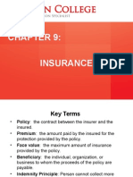 Chapter 9 - Insurance