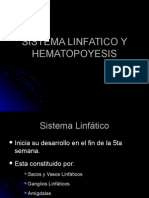 Sistema Linfatico y Hematopoyesis