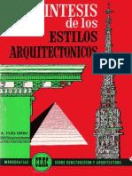 SINTESIS DE ESTILOS ARQUITECTONICOs