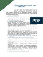 Causales de Divorcio en el Código Civil Peruano