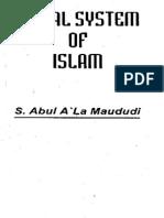 Maulana Maududi Social System of Islam