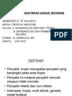 Epidemiologi Dan Pemberantasan Malaria & Penyakit Tropis