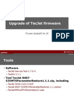 Upgrade of Tecjet Firmware Rev2