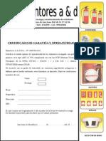Certificado Del Transportista