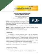 Modelo de artigo - Produção Online