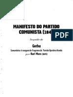 MARX, Karl. Manifesto Do Partido Comunista
