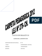 Carpeta Pedagoagica 2012-Churrubamba Completo