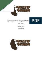 Gyroscope Range Of Motion Device