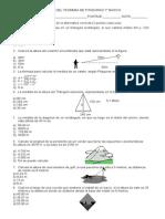 Prueba Tº Pitagoras 7° basico
