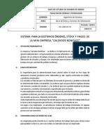 sistema de gestion de orden, stock y pagos de la mini empresa calzados Boniface