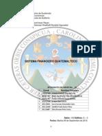 Sistema Financiero Guatemalteco - Investigación Integrada - Finanzas I