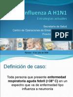 Influenza a H1N1 Estrategias Actuales