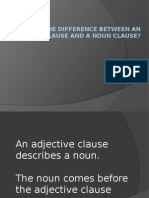 Adjective Clause and Noun Clause