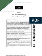 CIMA 2010 Syllabus Strategy Level Specimen Exam Paper