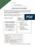 Carta de Apresentação e Anúncios