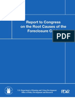 HUD's Report to Congress on the Root Causes of the Foreclosure Crisis