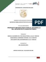 Metodologia para el diseño arquitectonico