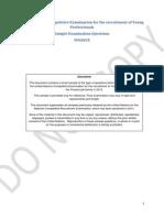 2015 YPP Finance Sample Questions (en)