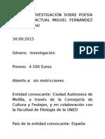 BECA DE INVESTIGACIÓN SOBRE POESÍA ESPAÑOLA ACTUAL MIGUEL FERNÁNDEZ 2015.docx