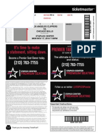 Staples Center NBA Ticket Sample