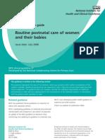 Postnatal Care - Quick Reference Guide