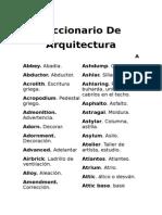 Diccionario Ing Esp de Arquitectura