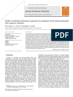 Studies on Fluoride Adsorption Capacities of Amorphous Fe.al Mixed Hydroxides From Aqueous Solutions