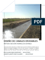 Diseño de Canales Erodables