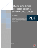 Estudio Estadístico Del Sector Editorial Peruano 2007 2008