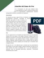 Pasteurización Del Zumo de Uva
